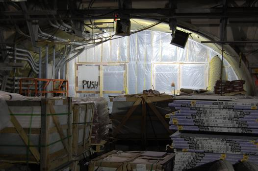 Construction on the mezzanine