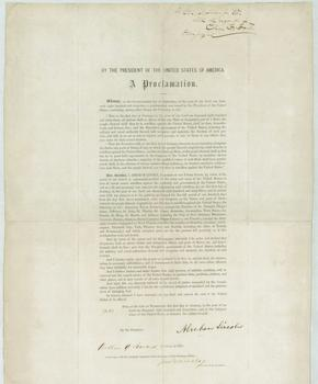 A rare signed copy of Lincoln's Emancipation Proclamation is on display at the Brooklyn Historical Society.