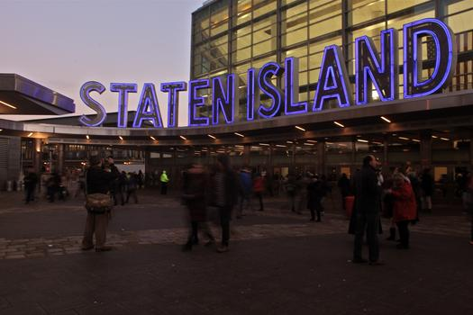 The Staten Island Ferry Terminal.