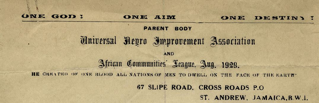 Letterhead for the United Negro Improvement Association.