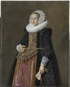 Frans Hals (1581/1585–1666). Portrait of Aletta Hanemans (1606–1653), 1625.