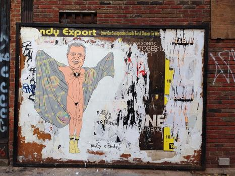 Buffalo Bill de Blasio. Chinatown, NYC (collaboration with Alex Pardee)