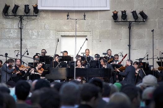 "The Knights perform Boccherini's Quintet in C major Op. 30, No. 6 ""La Musica Notturna delle strade di Madrid"" (arranged for string orchestra)."