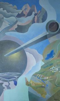 Benedetta (Cappa Marinetti) <em>Synthesis of Aerial Communications (Sintesi delle comunicazioni aeree),</em> 1933–34