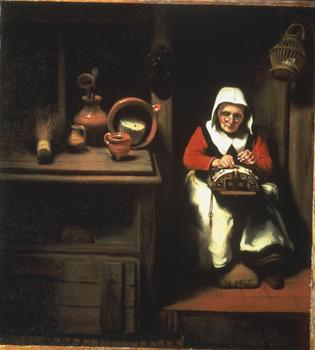 Nicolaes Maes. The Old Lacemaker, c. 1655.