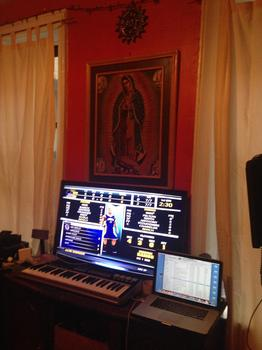 Marvin's recording studio in his bedroom