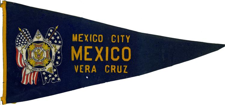 VFW pennant previously owned by Smedley D. Butler.