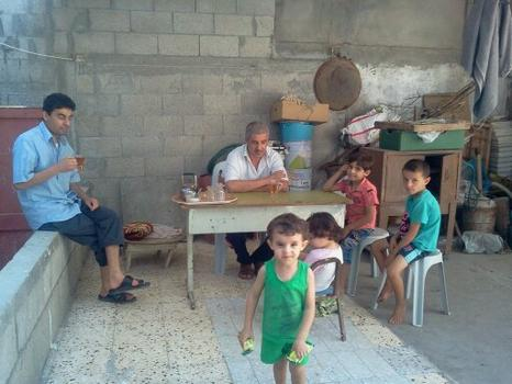 Ghada Ageel's home in the Khan Younis Refugee Camp.