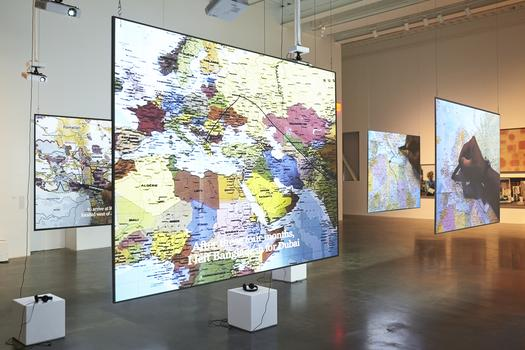 "Bouchra Khalili (b. 1975 Casablanca, Morocco; lives in Berlin, Germany), ""The Mapping Journey Project,"" 2008–11."