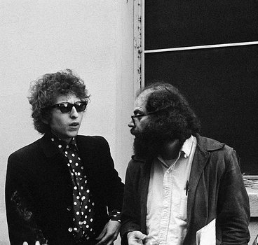 Bob Dylan and Allen Ginsberg.
