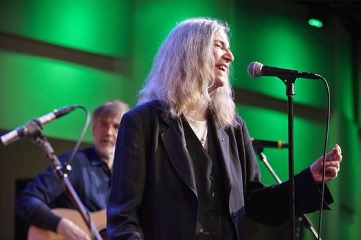 Spinning On Earth in The Greene Space with Tony Shanahan and Patti Smith