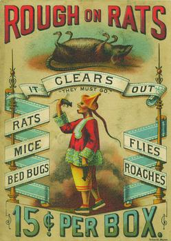 """Rough on Rats,"" trade card (c. 1880s). Photo by Phillip Chen. Courtesy of the Lenore-Metrick Chen Collection."