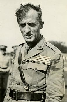 General Smedley Butler at Marine Air Show just prior to his scheduled retirement on October 1, 1931.