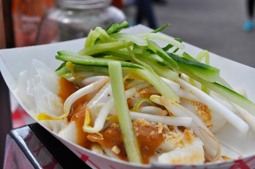 Cheong Fun noodles from Noodle Lane at Smorgasburg