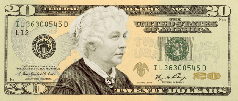 Elizabeth Cady Stanton, abolitionist, suffragist and civil rights activist.