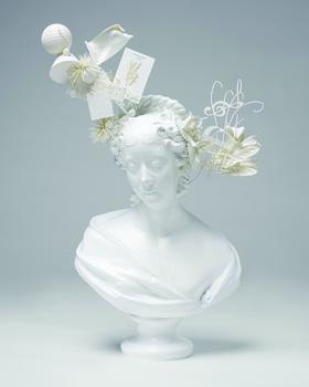 Stephen Jones. Bust of Lady Belhaven (after Samuel Joseph), 2011. Epoxy resin, nylon; stereolithography, laser sintering.