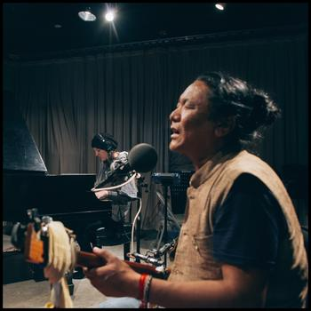 Jesse Paris Smith and Tenzin Choegyal in the WNYC studio