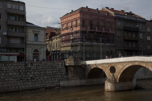 The Latin Bridge where the assassination of ArchDuke Ferdinand took place on June 28th 1914.