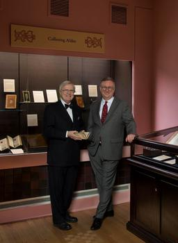 The two curators of the Aldus Manutius exhibition at the Grolier Club. Left: H. George Fletcher Right: G. Scott Clemons