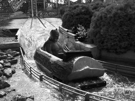 Sad Batman on the log flume.