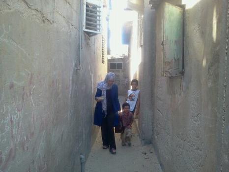 Behind Ghada Ageel's home.