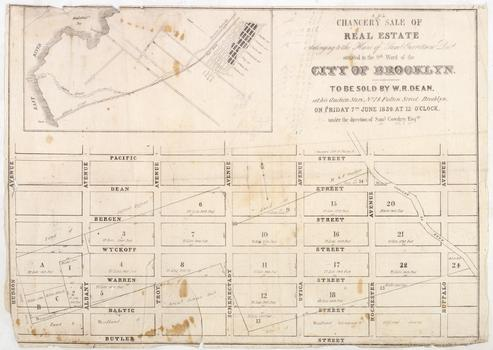 Auction Map of Weeksville, Brooklyn, one of New York's earliest and most successful free black communities.