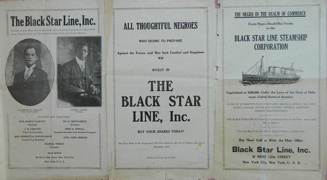 1919 Brochure for Marcus Garvey's Blackstar Line