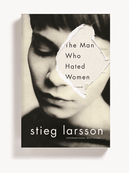 <em>The Man Who Hated Women</em> by Stieg Larsson. From <em>Cover</em> by Peter Mendelsund