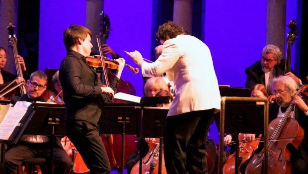 Joshua Bell performs with the Orchestra of St. Luke's at the Caramoor Festival