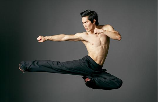 "Actor Cole Horibe in a scene from ""Kung Fu"""