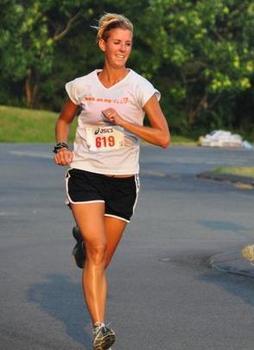 Bridget Hanahan running.