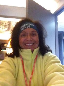 Joanne Pomodoro in running gear.