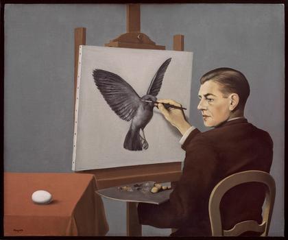 René Magritte (Belgium, 1898-1967). La clairvoyance (Clairvoyance). 1936.