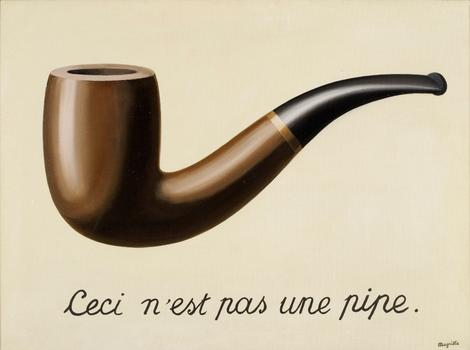 René Magritte (Belgium, 1898-1967). La trahison des images (Ceci n'est pas une pipe) (The Treachery of Images [This is Not a Pipe]). 1929.