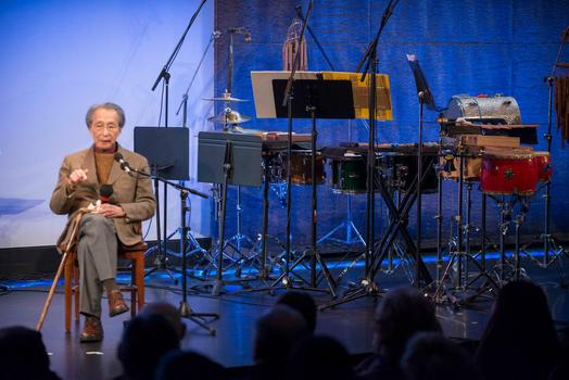 "Chou Wen-chung at ""From China to America"" at New York HIstorical Society on Jan. 10, 2014"