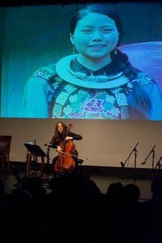 "Maya Beiser at ""From China to America"" at New York HIstorical Society on Jan. 10, 2014"