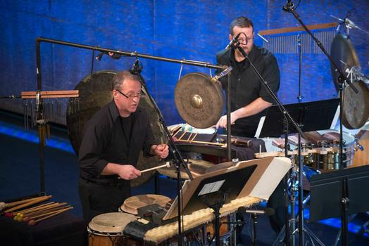 """Talujon Percussion Quartet at """"From China to America"""" at New York HIstorical Society on Jan. 10, 2014"""