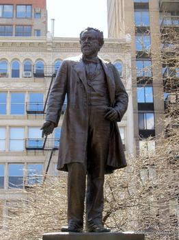 Statue of Roscoe Conkling in Madison Square Park.