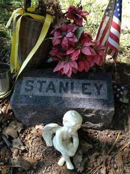 The grave of Stanley Fisher in Matawan's Rose Hill Cemetery.