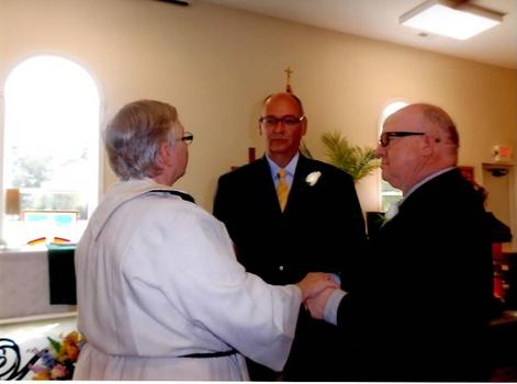 David Michener and Bill Ives on their wedding day.