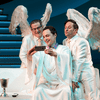 From L to R: Tim Kazurinsky, Jim Parsons, and Christopher Fitzgerald in <em>An Act of God</em>