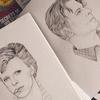 David Bowie portraits by Helen Green