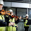 Members of the Copenhagen Philharmonic go underground.