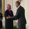The tenor George Shirley receives the 2014 National Medal of Arts at the White House