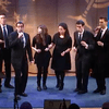 Pella, an a cappella ensemble, performs in The Greene Space's Hanukkah Celebration