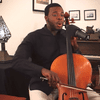 Kevin Olusola celloboxes over the Prelude from Bach's First Cello Suite.