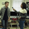 Rookies Redon and Keyshla practicing interview techniques