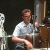 Ben Sollee in the WABE studios