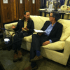 Rob Walker and Kurt Andersen at Vintage Thrift in Manhattan