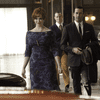 Christina Hendricks as Joan Harris and Jon Hamm as Don Draper in a scene from Mad Men